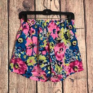 Pants - Floral shorts S/M Multicolor Pockets